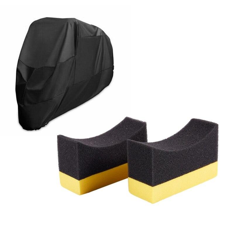 2x rodas de automoveis contornadas escova esponja ferramentas aplicador especial para cubo de pneus limpeza vestir
