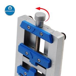 Image 5 - Mj k23 duplo eixo pcb suporte de solda para o reparo do iphone placa mãe reparação de solda dispositivo elétrico para samsung ferramenta de reparo de soldagem