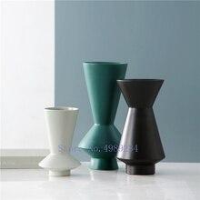Скандинавские креативные керамические абстрактные геометрические Цветочная композиция для вазы аксессуары художественная ваза современные домашние настольные украшения veses