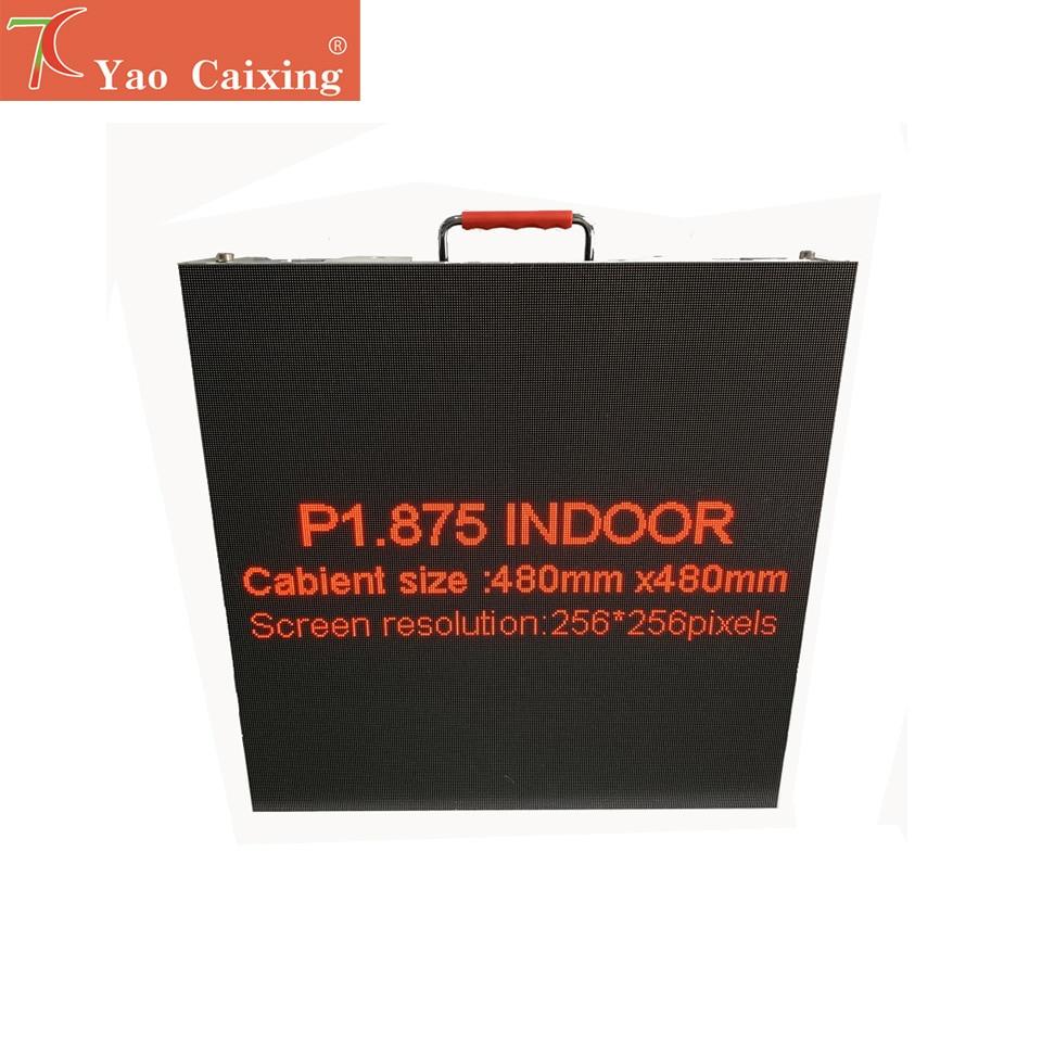 YCX Aliexpress 256x256 Pixels Dot Matrix P1.875 Indoor High Resolution Aluminum Cabinet Display Screen