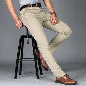 Мужские брюки, высокое качество, костюм, брюки, мужские брюки, мужские деловые брюки, офисные повседневные брюки, мужские Стрейчевые хлопков...