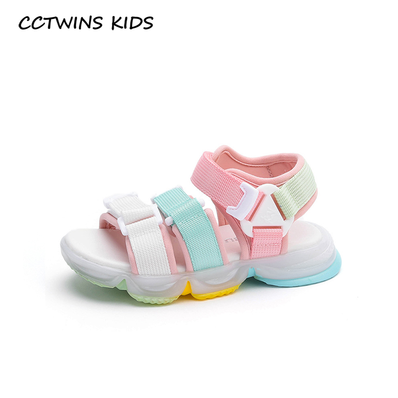 CCTWINS Kids Shoes 2020 Summer Children Fashion Casual Shoes Baby Girls Brand Beach Sandals Toddlers White Flat BS538