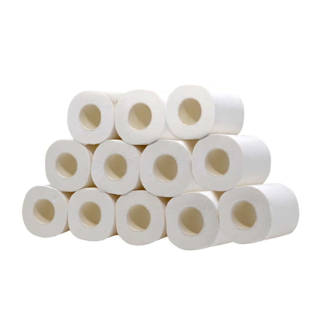White Toilet Paper Toilet Roll Tissue 12 Roll Pack Towels Tissue Toilet Paper Fast Delivery Home Accessories