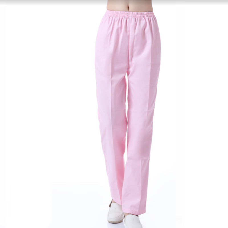 Women Men Scrub Pants Pure Cotton Medical Uniforms Doctor Nurse Workwear Scrub Bottoms Solid Color Surgical Trousers