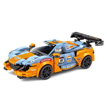 Creator Racing The Sun God Pull Back Car Speed Champions Building Blocks Supercar Racer Educational Bricks MOC Toys Kids Gift image