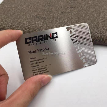 New arrival!cutting out/cutting through metal cards printing supplier from China new arrival etching and cutting through stainless steel metal material metal etched business cards