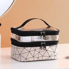 Cosmetic Bag Makeup Case Beautician Necessaire Feminina Double Layer Waterproof Bag Organizer Toiletry  High Capacity