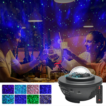 Ornaments Night-Light Galaxy-Lamp Gifts Starry LED USB Bluetooth Home-Decoration