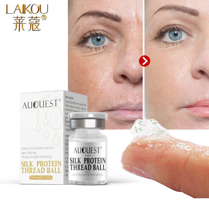 LAIKOU Collagen Silk Thread Face Serum Essence Anti-Aging Anti-Wrinkle Moisturizing Hydrolyzed Protein Gel Cream Face Skin Care