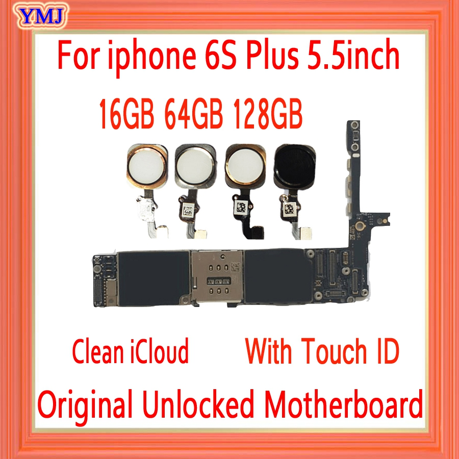 Factory <font><b>Unlocked</b></font> For <font><b>iPhone</b></font> <font><b>6s</b></font> Plus Motherboard Full Tested For <font><b>iPhone</b></font> <font><b>6s</b></font> plus <font><b>Logic</b></font> <font><b>Board</b></font> With/Without Touch ID Mainboard image