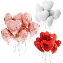 10 шт мульти цвета розового золота в форме сердца фольгированные гелиевые шары шар День рождения украшения для детей и взрослых, на свадьбу, ...