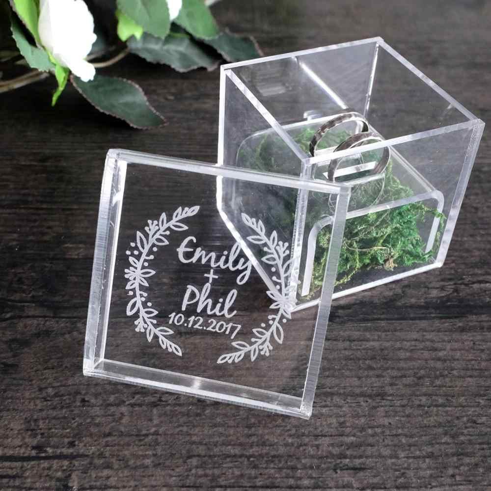Personalized Wedding Ring Box Acrylic Ring Box Wedding Gift
