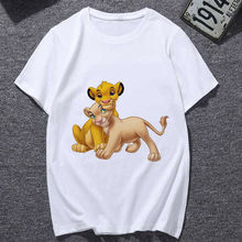 Lion King Cartoon T Hemd Frauen 2019 Neue sommer Mode T-shirt Casual Harajuku Grafik T-shirt Weibliche netten T tops Kleidung(China)