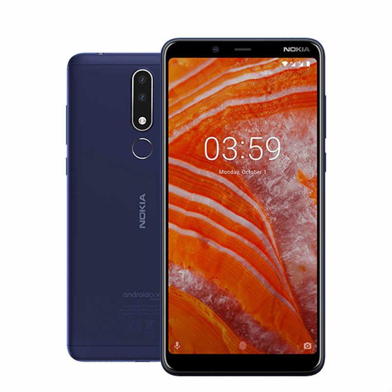 Version mondiale NOKIA 3.1 Plus 4G Smartphone Android 2GB 16GB Smartphone 6.0 pouces capteur d'empreintes digitales intégré téléphone portable