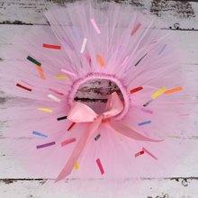 Pink Candy Donuts Girl Sprinkles Tutu skirt Baby 1st Birthda