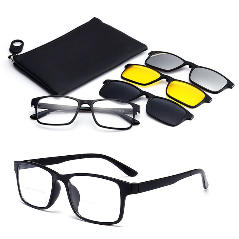 Bifocal Reading Sunglasses Fishing Polarized Magnetic Outdoor Clip-On Driving