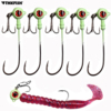 Amazing 5pcs/lot Jig Head Fishing Hooks High carbon steel