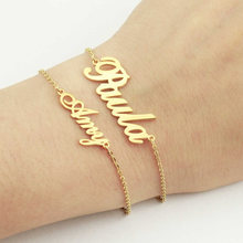 Fashion personalized name bracelet customized nameplate bracelets