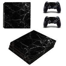 Broken Glass Style Skin Sticker for PS4 Pro Console And Controllers Decal Vinyl Skins Cover YSP4P-3390