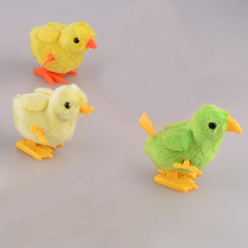 Children'S Educational Early Childhood Hands-on Toy Winding Spring Chickens Plush Doll Toy Gift Baby Small Gifts