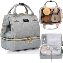 Breast Pump Bag For Mummy Travel Diaper Maternity Bags Backpack with Cooler Pocket USB Charge Baby Nursing Bag