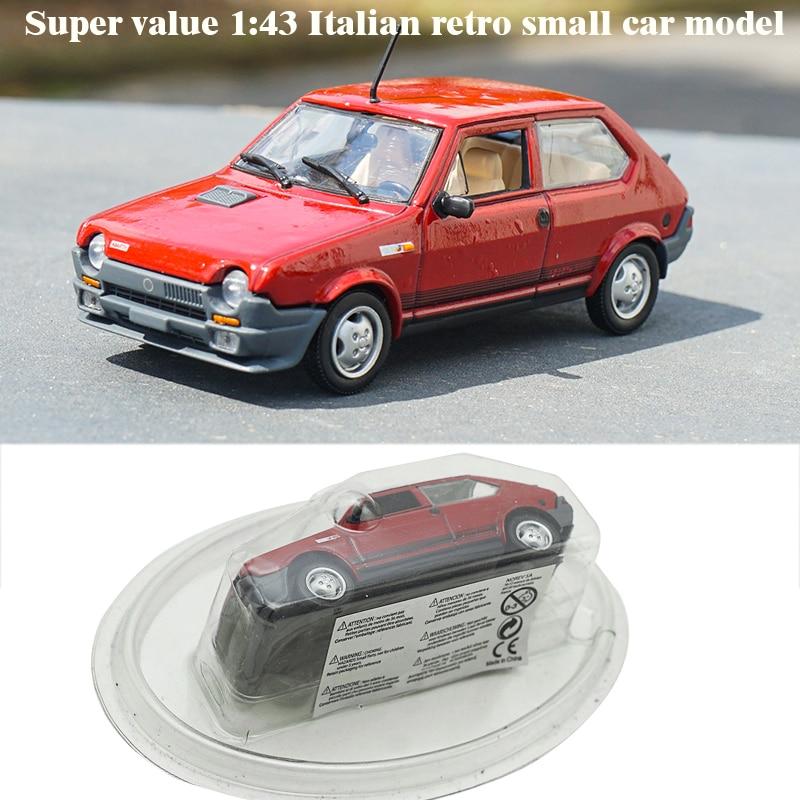 Defective Non-refundable Stocks Super Value 1:43 Italian Retro Small Car Model Alloy Collection Model Italy Imperfect