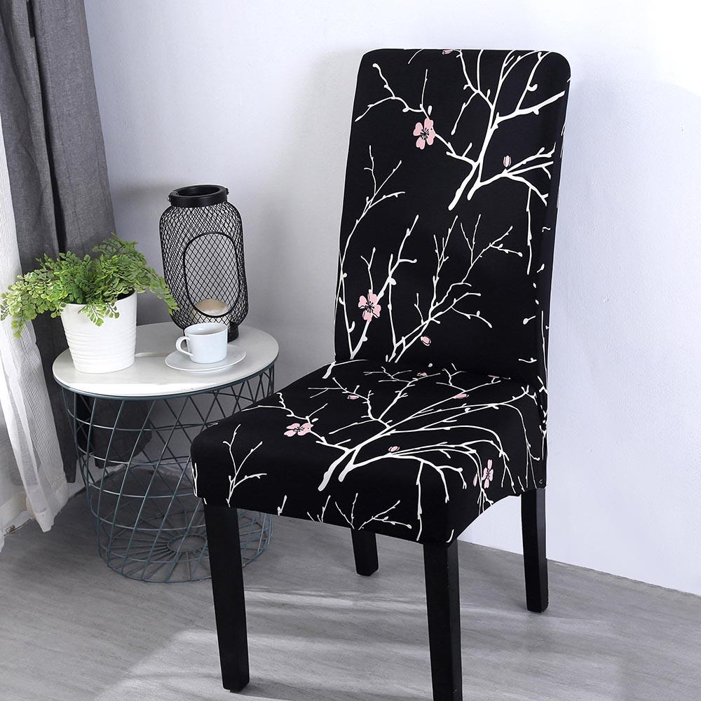 15 New Flower Printing Removable Chair Covers Big Elastic Slipcover Modern Kitchen Seat Case Stretch Chair Cover For Banquet