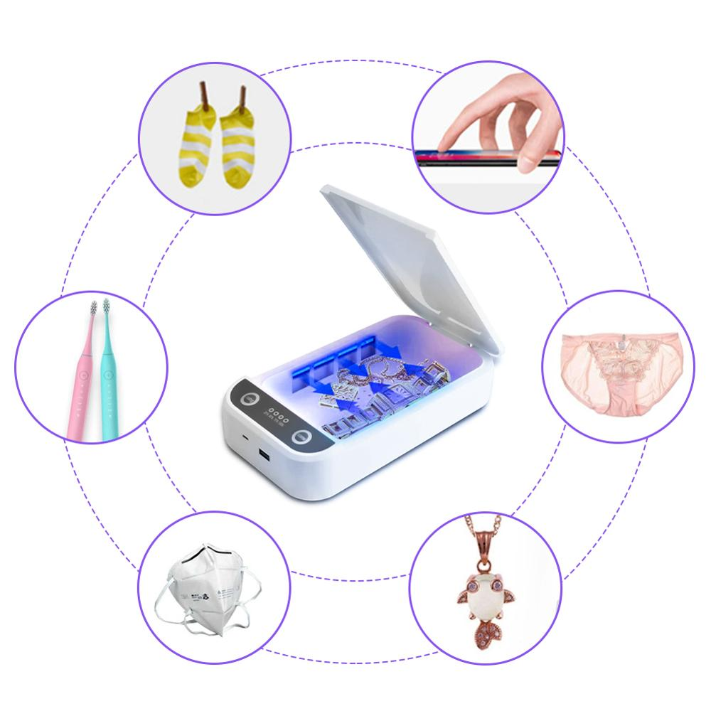 2020 UV Disinfection And Sterilization Box Portable UV Sterilizer With USB Phone Toothbrush Disinfection Box Hot Sale