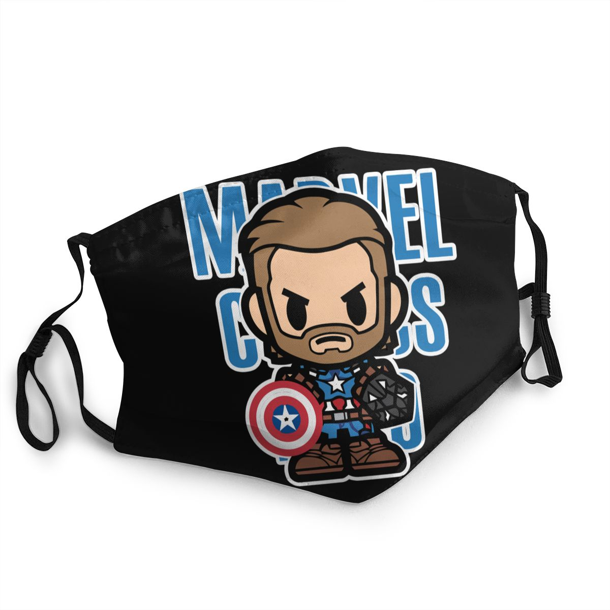 Captain America Non-Disposable Face Mask Printed Marvel The Avengers Anti Haze Dust Cold Protection Mask Respirator Muffle