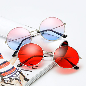Retro Small Round Sunglasses Women Vintage Brand Shades Red Metal Sun Glasses For women Fashion Designer Lunette(China)