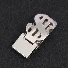 цена на 1Pc Unisex Silver Tone Stainless Steel Metal Pocket Money Clip Card Cash Holder Wallet Credit Cards Convenient