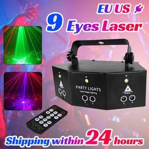 Laser-Projector-Lamp Lighting Disco Strobe Party 9-Eyes-Laser Stage-Bar KTV for DJ Club