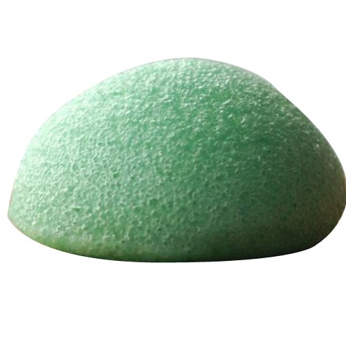Konjac Konnyaku Jelly Fiber Face Makeup Wash Pad Cleaning Sponge Puff Exfoliator-green