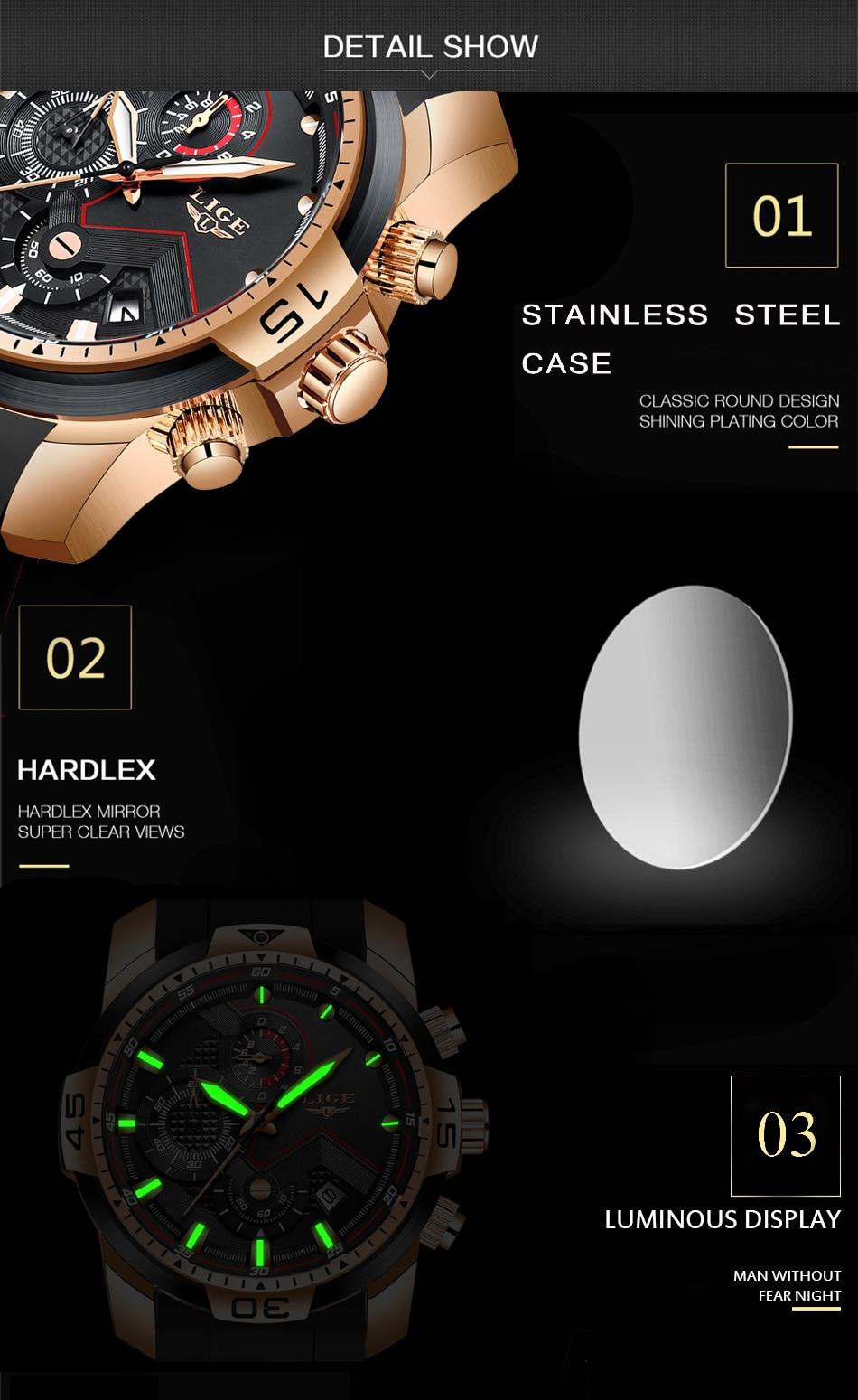 H9f51bfdd00b2495c9aeb73f0355834e7I 2020 LIGE New Mens Watches Top Luxury Brand Men Unique Sport Watch Men Quartz Date Clock Waterproof Wristwatch Relogio Masculino