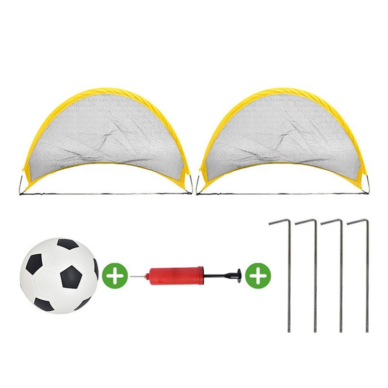 NEW-Football Net Football Set Foldable Outdoor Football Training Children'S Football Game