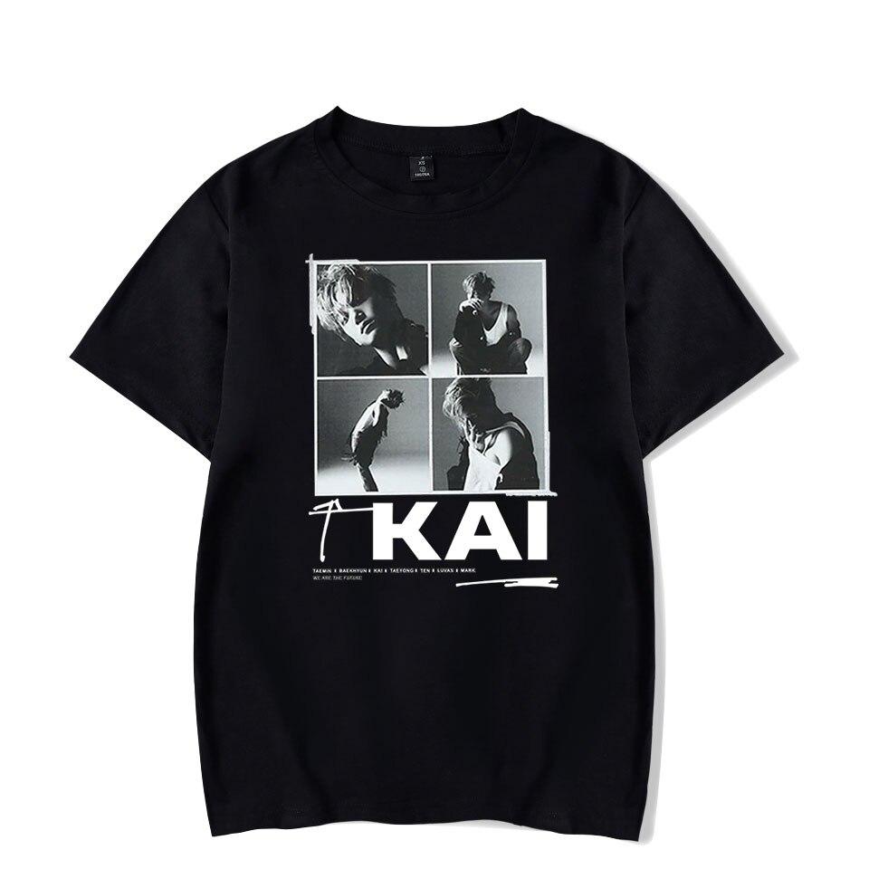 Kpop 2019 NEW Team Super M NEW Album SuperM Song Jopping Print T-shirt Women/Men Clothes Hot Sale Tops Short Sleeve T Shirt