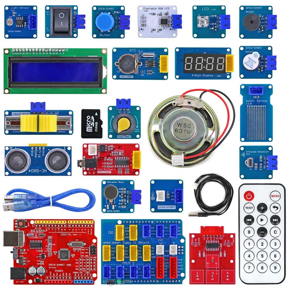 Easy Starter Kit, Easy-plug, цветной XH 2,54 мм, комплект датчика сокета с MP3 RTC, модуль датчика температуры для Arduino UNO R3