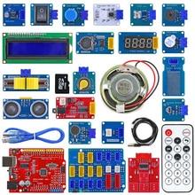 Kit de capteur de prise colorée XH 2.54mm, Kit de démarrage facile avec module de capteur de température MP3 RTC pour Arduino UNO R3
