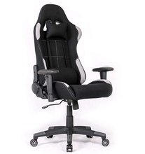 High-Back E-Sports Chair Height Adjustable Gaming Office Desk  Team Racing Big Size(Black/Grey)