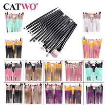Catwo Make-Up Pinsel Set Lidschatten Foundation Pulver Eyeliner Wimpern Lippen-Make Up Pinsel Kosmetische Schönheit Werkzeug Kit Heißer 15pcs(China)