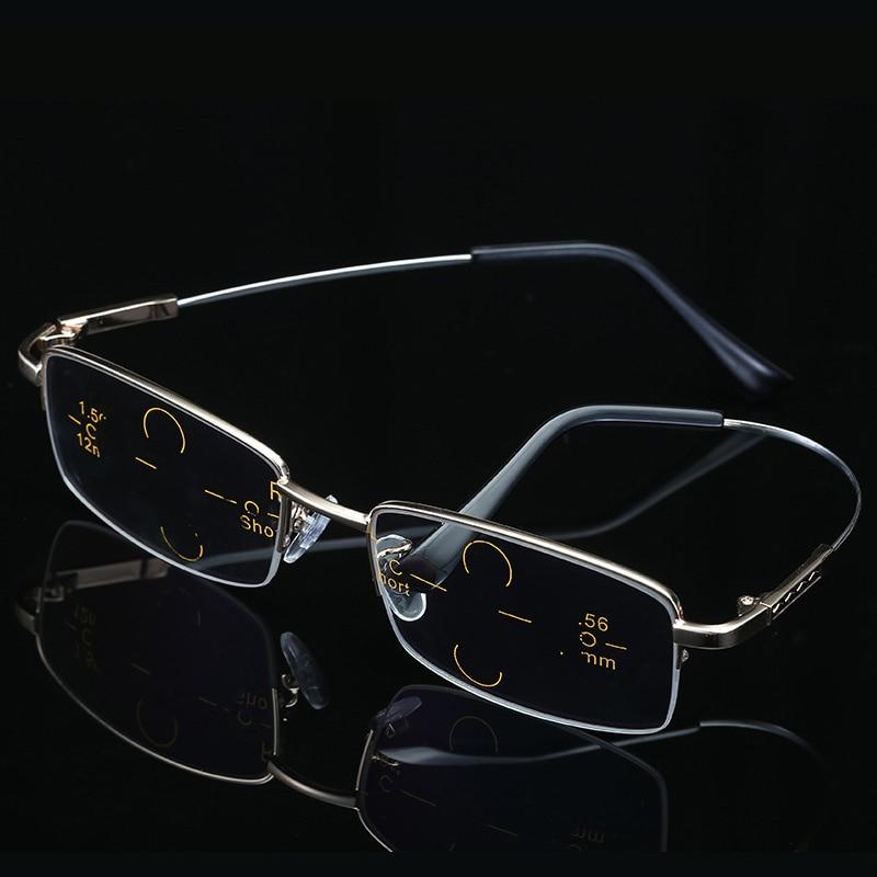 Progressive Multifocal Reading Glasses Men Memory Titanium Anti Blue Light Transition Myopia Hyperopia Presbyopia Woman BS-1003