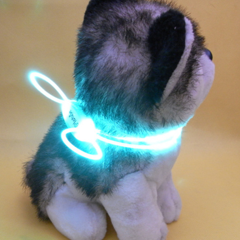 Luminous Collar Night Light Dog Neck Ring LED Teddy Golden Retriever Dog Neck Ring Small Breed Applicable