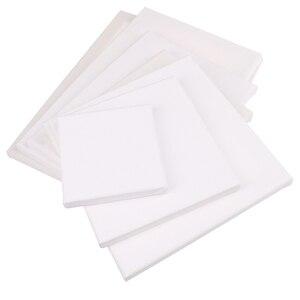 1 шт., Белая пустая квадратная Художественная холст для масляной краски на холсте, акриловая акварель масляная краска с деревянной рамкой в качестве праймера| |   | АлиЭкспресс