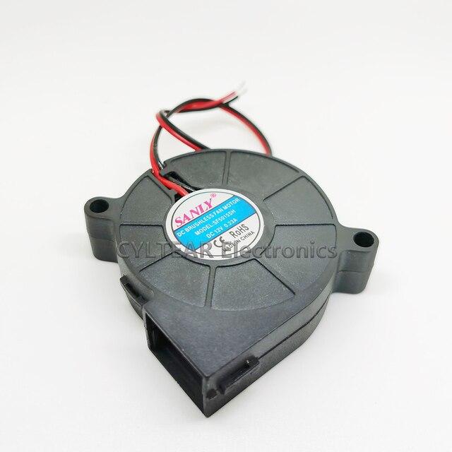 High speed 50*50*15mm 5015 12V nawilżacz turbo wentylator chłodzenia bezszczotkowe części drukarki 3D 2Pin dla wytłaczarki DC Cooler dmuchawy część