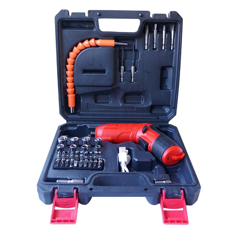 47Pcs USB Wireless Electric Screwdriver Adjustable Cordless Screwdriver Drill Bit Set For Industrial Manufacturing