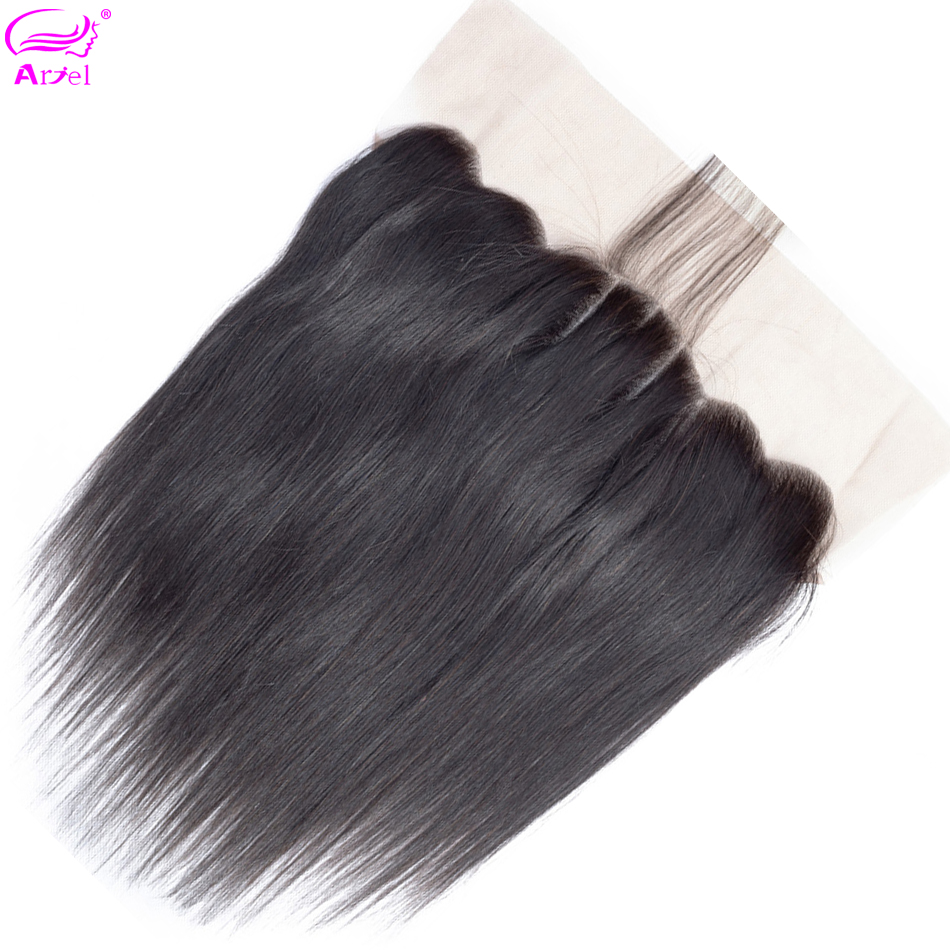 Ariel Closure Peruvian Lace-Frontal Swiss Non-Remy Straight Ear-To-Ear 134