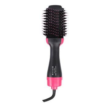Hair Dryer Brush One Step Hot Air Brush and Volumizer Blow Straightener Curler Curling Iron Hair Styler Comb Secador De Cabelo