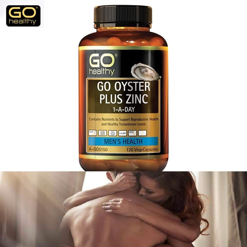NewZealand Go Healthy Oyster Zinc Supplement 120 Capsules for Men Health Vitality Immune Support Sexual Reproductive Wellbeing 2