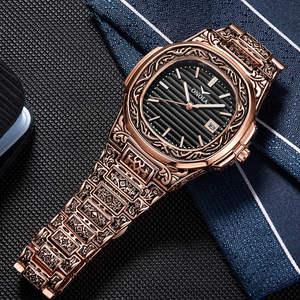 Image 4 - ONOLA designer quartz watch men 2019 unique gift wristwatch waterproof fashion casual Vintage golden classic luxury watch men
