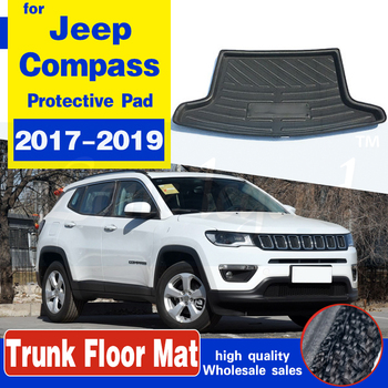 Car Tray Boot Liner Cargo Rear Trunk Cover Mat Boot Liner Floor Carpet Mud Non-slip Waterproof For Jeep Compass 2017 2018 2019 for lada largus 2012 2018 trunk mat floor rugs non slip polyurethane dirt protection interior trunk car styling